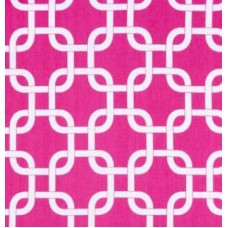 Gotchanow White on Candy Pink Home Decor Cotton Fabric Fabric Traders