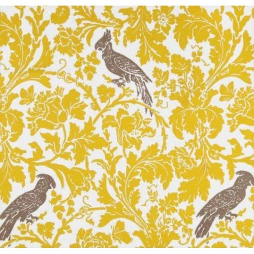 A Cockatoo Bright Yellow Home Decor Fabric | Fabric Traders