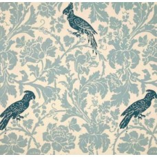 REMNANT - A Cockatoo Pale Blues Home Decor Fabric Fabric Traders