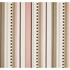 Brook Stripe in Pink, White, Brown and Taupe Home Decor Cotton Fabric Fabric Traders