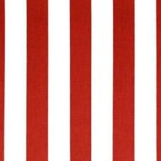 REMNANT - Canopy Stripe Red Home Decor Cotton Fabric Fabric Traders