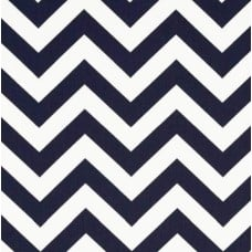 Chevron Zig Zag in Navy Home Decor Cotton Fabric Fabric Traders