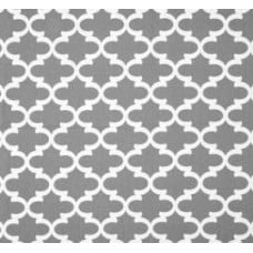 Fulton in White and Grey Home Decor Cotton Fabric Fabric Traders