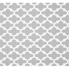 Fulton in White and Light Grey Home Decor Cotton Fabric Fabric Traders