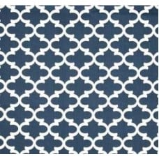 Fulton In White and Navy Home Decor Cotton Fabric Fabric Traders