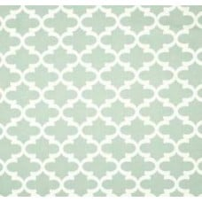 Fulton in White on Frost Blue Home Decor Cotton Fabric - OFFCUT  Fabric Traders