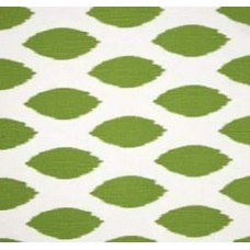 CUT PIECE - Go Chipper in Kelly Green on White Home Decor Cotton Fabric Fabric Traders