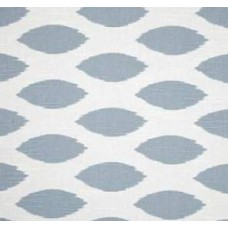 Go Chipper in Steel Blue on White Home Decor Cotton Fabric Fabric Traders