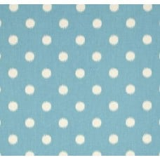 Ikat Dots Pale Blue Home Decor Cotton Fabric Fabric Traders