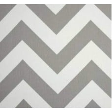 Jumbo Chevron Storm Grey Home Decor Cotton Fabric Fabric Traders