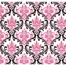 REMNANT - Madison Garden in Candy Pink Home Decor Cotton Fabric Fabric Traders