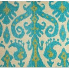 Marrakesh in Lime & Turquoise on Natural Home Decor Cotton Blend Fabric Fabric Traders