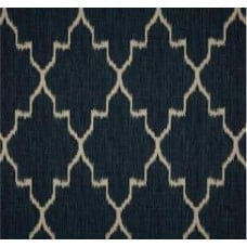 Navy & Oatmeal Ikat Home Decor Cotton Fabric Fabric Traders
