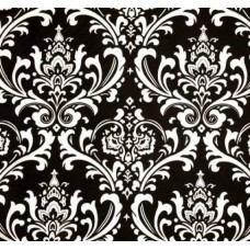 Osbourne Black and White Home Decor Cotton Fabric Fabric Traders