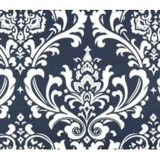 Osbourne Navy and Ivory Indoor Outdoor Fabric Fabric Traders