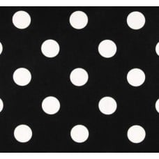Spot Dots Lucy Home Decor Fabric White on Black Fabric Traders