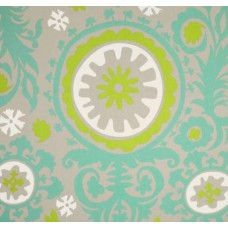 Susani Green and Turquoise Harmony Cotton Twill Fabric Traders