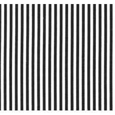 Ticking Thin Stripe Cotton Fabric Black White Fabric Traders
