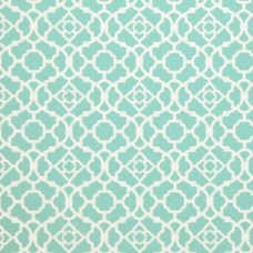 Waverly Lovely Lattice in Aqua Outdoor Fabric Fabric Traders