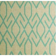 Zoe In Aqua & Turquoise On Oatmeal Home Decor Cotton Blend Fabric Fabric Traders
