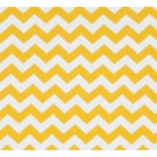 95% Cotton Jersey Chevron Stretch Fabric Yellow And White Fabric Traders