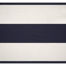 REMNANT - Jumbo Stripe Home Decor Fabric Navy and White Fabric Traders