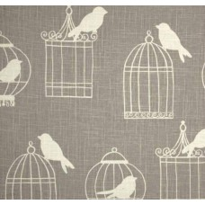 Birdcages in Beige Home Decor Linen Fabric Fabric Traders
