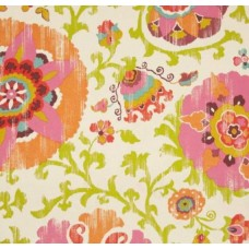 REMNANT - Fuschia Flowers Outdoor Fabric by Kaufmann Fabric Traders