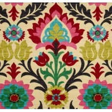 Santa Maria Flowers in the Desert Pink Red Home Decor Fabric by Waverly Fabric Traders
