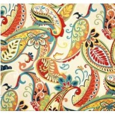 REMNANT - Whimsy Paisley In Multi Home Decor Luxe Fabric Fabric Traders