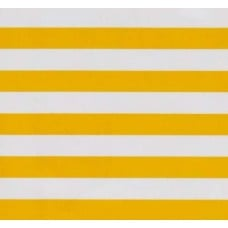 Mexican Oilcloth Laminated Fabric Stripes Yellow - OFFCUT Fabric Traders