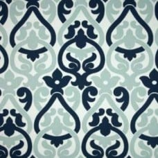 Alexia in Navy Home Decor Cotton Fabric Fabric Traders
