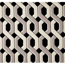 Chain Lattice in Black Outdoor Fabric Fabric Traders