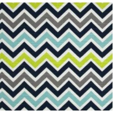 Chevron Zig Zag in Canal Home Decor Cotton Fabric Fabric Traders