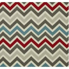 Chevron Zig Zag in Natural Pewter Home Decor Cotton Fabric Fabric Traders