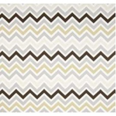 Chevron Zig Zag in Stone Rock Home Decor Cotton Fabric Fabric Traders