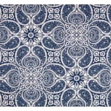 Yesterdays Paisley Flowers in Navy Home Decor Cotton Fabric Fabric Traders