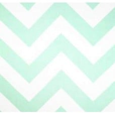 Jumbo Chevron in Mint Green Home Decor Cotton Fabric Fabric Traders
