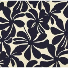 A Jumbo Petals in Navy Blue & Cream Outdoor Fabric Fabric Traders
