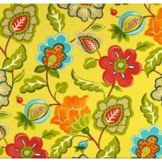 REMNANT - Dew Floral in Yellow Outdoor Fabric Fabric Traders