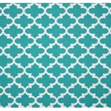Fulton in White and Capri Blue Outdoor Fabric Fabric Traders