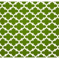 Fulton in White and Green Outdoor Fabric Fabric Traders
