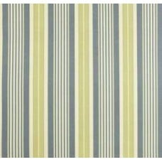 REMNANT - Long Hill Stripe in Chambray Outdoor Fabric by Waverly Fabric Traders