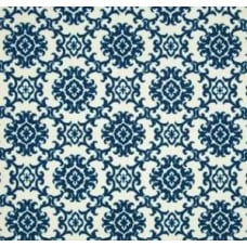 Medallion Isle in Indigo Blue and Cream by Tommy Bahama Outdoor Fabric Fabric Traders