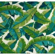 REMNANT - Resort Palm Leaf in Green Outdoor Fabric 2  Fabric Traders