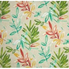 Solarium Outdoor Polyester Fabric in Opal Leaf Fabric Traders