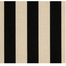 Striped Black & Beige Outdoor Fabric Fabric Traders
