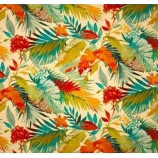 Toma Floral in Ivory Outdoor Fabric Fabric Traders