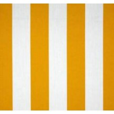 Vertical Stripe Outdoor Polyester Fabric in Yellow Fabric Traders