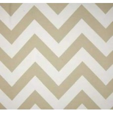 Chevron Stripe Outdoor Fabric in Sand and White Fabric Traders